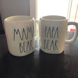 Rae dunn Mama And Papa Bear Mugs